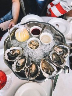 Discover and celebrate the many ways to eat oysters,get some tasty recipes and answer the most frequently asked questions about them!  #nationaloysterday #oysterday #nationaldays #nationalfoodday Fish Recipes, Seafood Recipes, Indian Food Recipes, Italian Recipes, Appetizer Recipes, Dinner Recipes, Raw Oysters, Fresh Oysters, Wine Butter