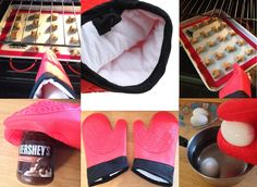 Amazon.com: Silicone Oven Mitts with Bonus Nonstick Baking Mat Half Sheet Size 16 5 8 x 11! Premium Non-stick Heat Resistant Gloves or Potholders and Pastry Liner Set! No Hassle Guarantee! Rave Reviews!: Kitchen & Dining