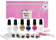 Konad Nail Art Starter Premium Metallic French Manicure Set: 5 Image PLates M19, M45, M56, M77, M80 + Clear Top Coat + 5 Special Polishes Gold, Silver, Psyche Pink, Blue Pearl, White + 2 Way Stamper + Scraper + Image Plate Holder + Nail Corrector Pen by konad. $79.99. the lates new konad french set. Package Includes:* 5 Image Plates * 5 Special Polishes (11 mL / 0.35 Fl.Oz) * 1 Top Coat (11 mL / 0.35 Fl.Oz) * 1 2-Way Stamper * 1 Scraper * 1 Image Plate Holder * 1 Nail Correc...