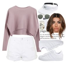 """""""17/11/15"""" by lindseu ❤ liked on Polyvore featuring Chicnova Fashion, adidas Originals, Topshop, NIKE, Pieces, Ray-Ban and Datura"""