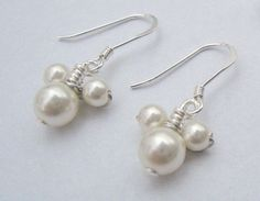 Mickey Mouse Pearl Earrings - Ahhh! I love these!