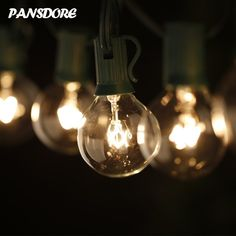 Pansdore G40 Globe String Lights with 25 Glassy Bulbs. UL Listed. 25ft Long Green String. Indoor/ Outdoor Lights use -Perfect for Patio, Gardens, Gazebos, and Weddings - - Amazon.com