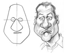 How to Draw Caricatures: Shapes   This is a great collection of tips and techniques you can use to draw caricatures and learn the basic theory and 5 shapes of caricature design.