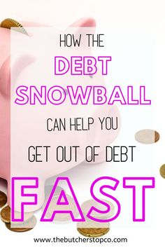 Dave Ramsey Baby Steps Discover Debt Snowball: The Simplest Debt Pay Off Method - The Butcher Stop Co. Debt Snowball Spreadsheet, Debt Snowball Calculator, Debt Snowball Worksheet, Dave Ramsey Steps, Dave Ramsey Mortgage, Dave Ramsey Debt Snowball, Dave Ramsey Envelope System, Total Money Makeover, Paying Off Credit Cards