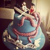 Underwater Themed Wedding Cake 1