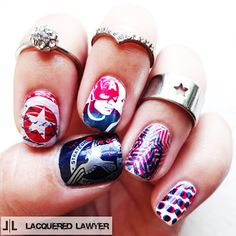Lacquered Lawyer | Nail Art Blog: Captain America