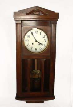Beautiful Antique French Vedette CHIME wall clock by RueDesLouves, $280.00