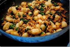 Whole Wheat Gnocchi with Sausage & Spinach~ YUM!