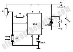 Dark Sensor With LDR, Transistor and a LED | Pinterest | Ldr circuit ...