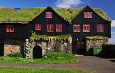 Traditional Turf-covered roof.    Most Beautiful Places in Iceland