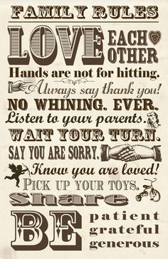 free+grandchildren+printables | FREE} Family Rules Poster | Three Little Monkeys StudioThree Little ...