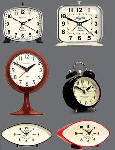 Retro Mantle & Alarm Clocks