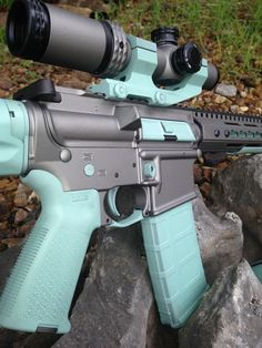 This is what I'm doing... Tiffany blue & gray AR-15
