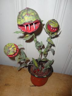 Carnivorous / Man Eating Plant in a Pot by ThePaleRealm on Etsy