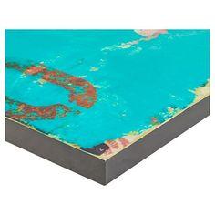 Urban Collage 1 Mdf Box, Blue