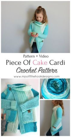 The Piece of Cake Cardi is a Piece of Cake to Make! It's a fun project that comes in not only kid size but adult too! It's my first Caron Cakes project and I have to admit I really loved working with this yarn. I get a little excited over pretty colours so just looking...