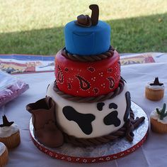 cowboy birthday cake pictures