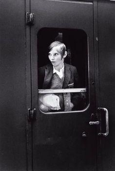 Young Woman on a Train, England, 1969. Eva Rubinstein. Gelatin silver