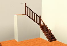 It looks like the staircase leads to no where........ then you page up....... oh, that's where it leads.