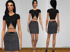 The Sims Resource: Elegant Outfit Set by PureSim • Sims 4 Downloads