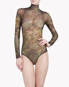 Camouflage Tattoo Bodysuit - Body Mujer en la tienda online oficial de Dsquared2