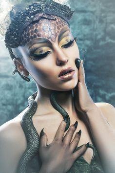 Gorgon girl in dungeon by Olena Zaskochenko on 500px