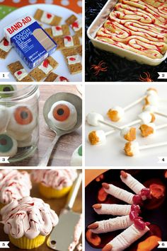 Creepy and scary Halloween party food ideas!