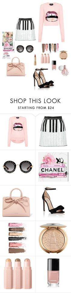 """Pink Power II"" by lookwhatyoumademeo ❤ liked on Polyvore featuring Chanel, Markus Lupfer, Dolce&Gabbana, ARI, Gucci, Oliver Gal Artist Co., Mansur Gavriel, Valentino, diversity and fentybeauty"