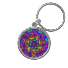 Customizable Tye-Dye Floral Sprinkles Small Premium Round Keychain on sale for $17.45 at www.zazzle.com/wonderart* or click on the picture to take you directly to the product.