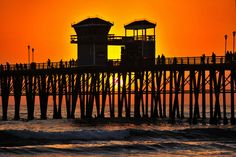 Sunset at the Oceanside Pier - October 4, 2013 by Rich Cruse on 500px