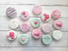Girly Chocolate Covered Oreos by MilkandHoneyCakery on Etsy