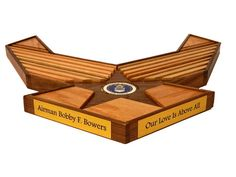 40 Air Force Emblem Challenge Coin Holder with by WoodSimplyMade