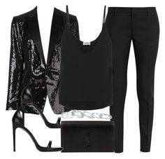 """""""Sin título #13220"""" by vany-alvarado ❤ liked on Polyvore featuring Dsquared2, Yves Saint Laurent, Totême and Kendra Scott"""