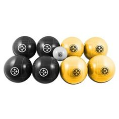 Pittsburgh Steelers Bocce Ball Regulation Sized Game Set