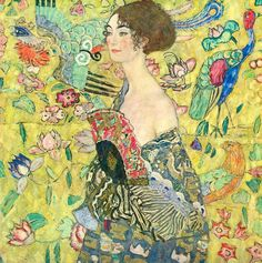 Gustav Klimt : Lady with Fan