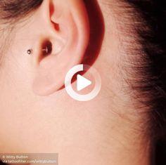 Semicolon tattoo behind the left ear. #wristtattoos #wristtattoos Cool Wrist Tattoos, Wrist Tattoos For Women, Semicolon Tattoo, Tattoo Artists, Ear