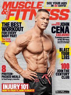 Muscle Fitness, Muscle Men, Mens Fitness, Wwe Superstar John Cena, Bodybuilding, Sports Celebrities, Plyometrics, Fitness Magazine, Muscle Magazine