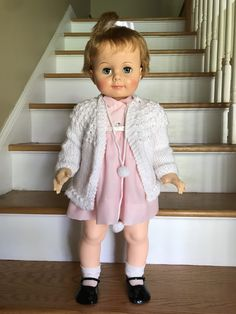 Antique Dolls, Vintage Dolls, Chatty Cathy, Ideal Toys, Beautiful Dolls, Doll Clothes, Antiques, Friends, Kids
