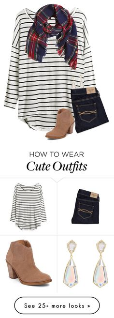 """""""{pattern mixing is so cute, but I just can't pull it off...}"""" by preppy-southern-girl-1-2-3 on Polyvore featuring Abercrombie & Fitch, Lucky Brand, American Outfitters and Kendra Scott"""