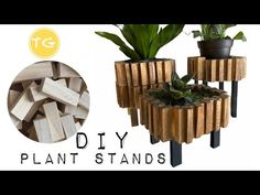 DIY mini plant stand   Tumbling tower block crafts  Dollar tree DIY - YouTube Magic Crafts, Diy Home Crafts, Crafts To Make, Tree Crafts, Jenga Blocks, Wood Blocks, Yarn Wall Hanging, Wall Hangings, Dollar Tree Gifts