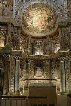 the red monastery , abba pishoi and abba bigel at sohag , egypt .