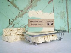 Bamboo Lotus Goat's Milk Soap with silk  great by saplingnaturals, $4.75