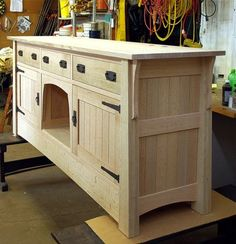aquarium stand plans   When the piece was in the white wood stage, we let it set for a month ...