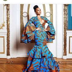 Long Ankara Gowns Styles 2018 from Diyanu - Ankara Dresses, Shirts & Ankara Long Gown Styles, Ankara Gowns, Ankara Dress, Ankara Styles, Maxi Gowns, African Prom Dresses, African Fashion Dresses, African Wedding Dress, Ankara Fashion