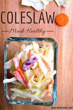 Healthy vegan coleslaw.