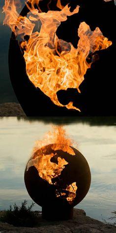 Third Rock Fire Pit Globe