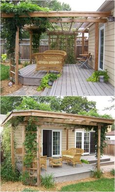An astounding patio roof, commonly known as pergola provides shelter from sun, wind, and rain. A well-built pergola deck plan amazingly extends the home's living space, increases the beauty of outdoor patio and also make you able to experience a wond