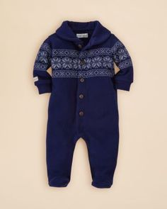 Ralph Lauren Infant Boys' Snowflake Pattern Coverall - Sizes 3-9 Months | Bloomingdale's