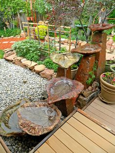Classic DIY Projects for the Outdoors Outdoor DIY projects can be easier and less expensive than many people think. They can also make your home safer and increase its' value. Indoor Water Fountains, Garden Fountains, Fountain Garden, Indoor Fountain, Diy Projects Cans, Garden Projects, Outdoor Projects, Water Sculpture, Concrete Sculpture