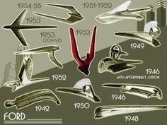 1942-55 Ford Hood ornaments